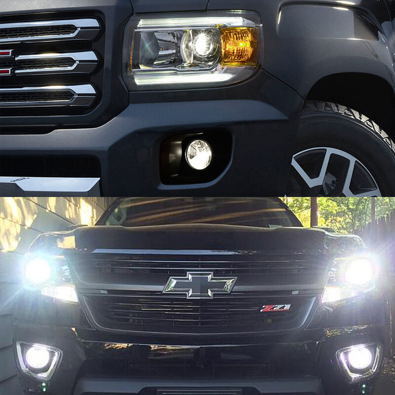 4pc White Headlight Low Beam Fog Light Led Bulbs For 2015 2016 Colorado Canyon Ebay