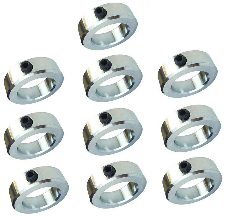 Quot bore solid steel zinc plated shaft collars set screw