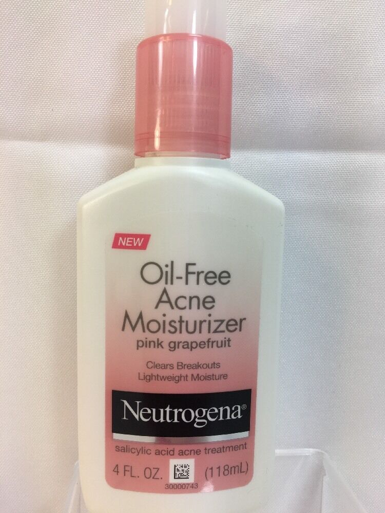 Neutrogena Oil-Free Acne Moisturizer, Pink Grapefruit, 4 Fluid Ounce  | eBay