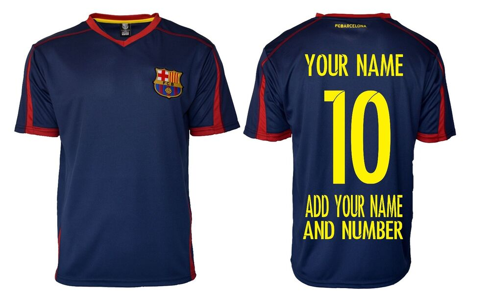 a869afd79 FC Barcelona Soccer Jersey  Add Any Name and Number Lionel messi 10  BLUE-T1E28