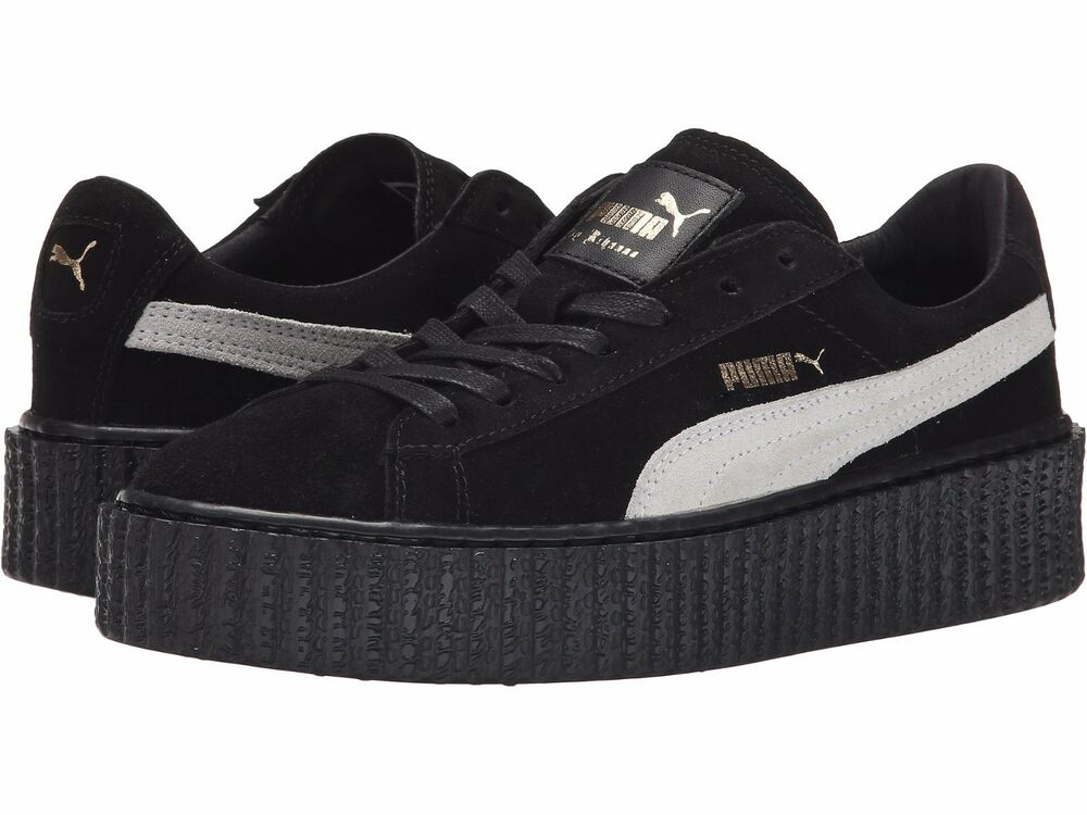 puma x rihanna suede creepers fenty black star white 361005 01 women 39 s 8 9 ebay. Black Bedroom Furniture Sets. Home Design Ideas