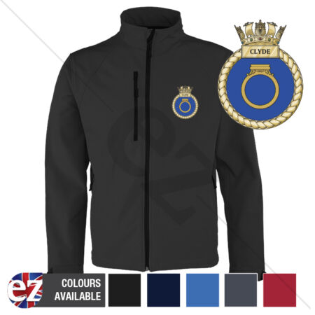 img-HMS Clyde - Royal Navy - Softshell Jacket - Personalised text available