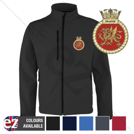 img-HMS Dragon - Royal Navy - Softshell Jacket - Personalised text available