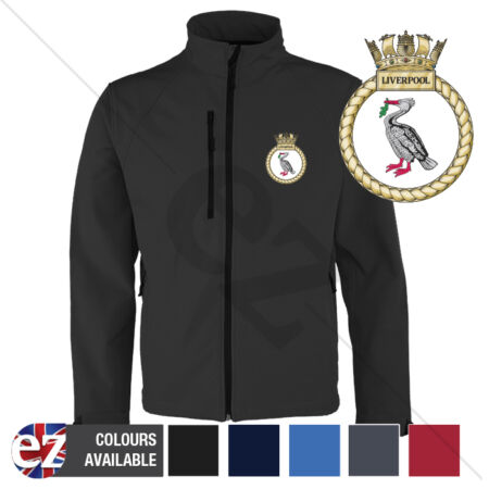 img-HMS Liverpool - Royal Navy - Softshell Jacket - Personalised text available