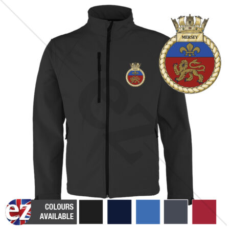 img-HMS Mersey - Royal Navy - Softshell Jacket - Personalised text available