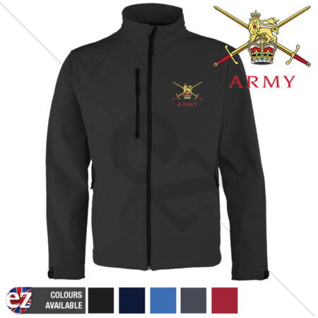 img-British Army - Softshell Jacket -Personalised text available