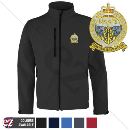 img-Navy Army Air Force Institute - Softshell Jacket - Personalised text available