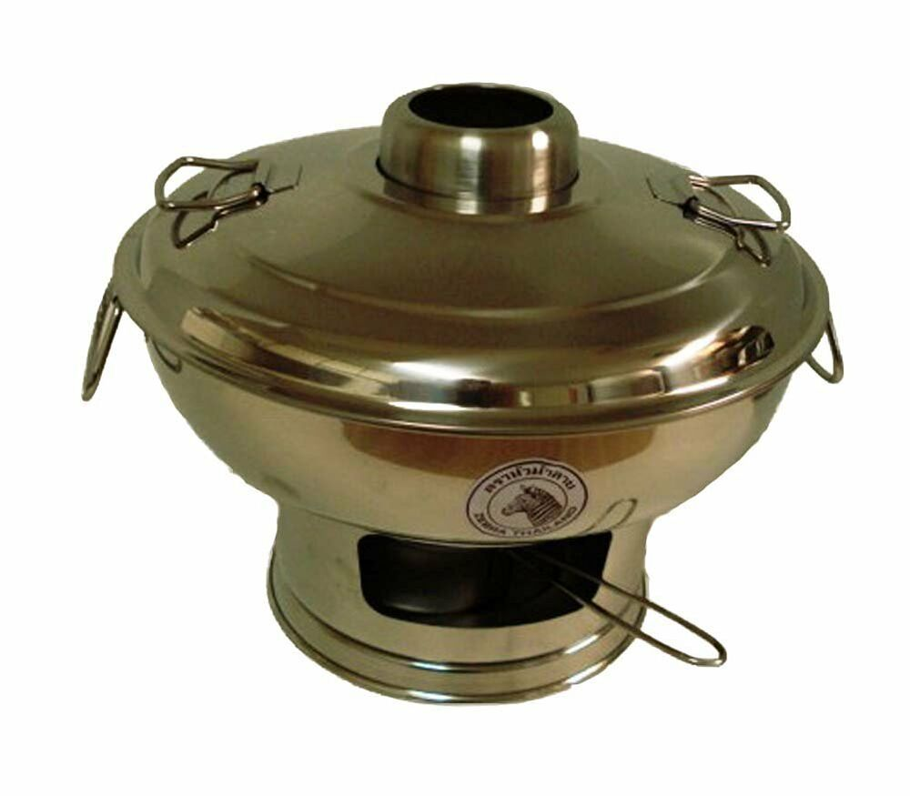 Stainless Steel Hot Pot thick Cookware shabu SOUP TOMYUM ...
