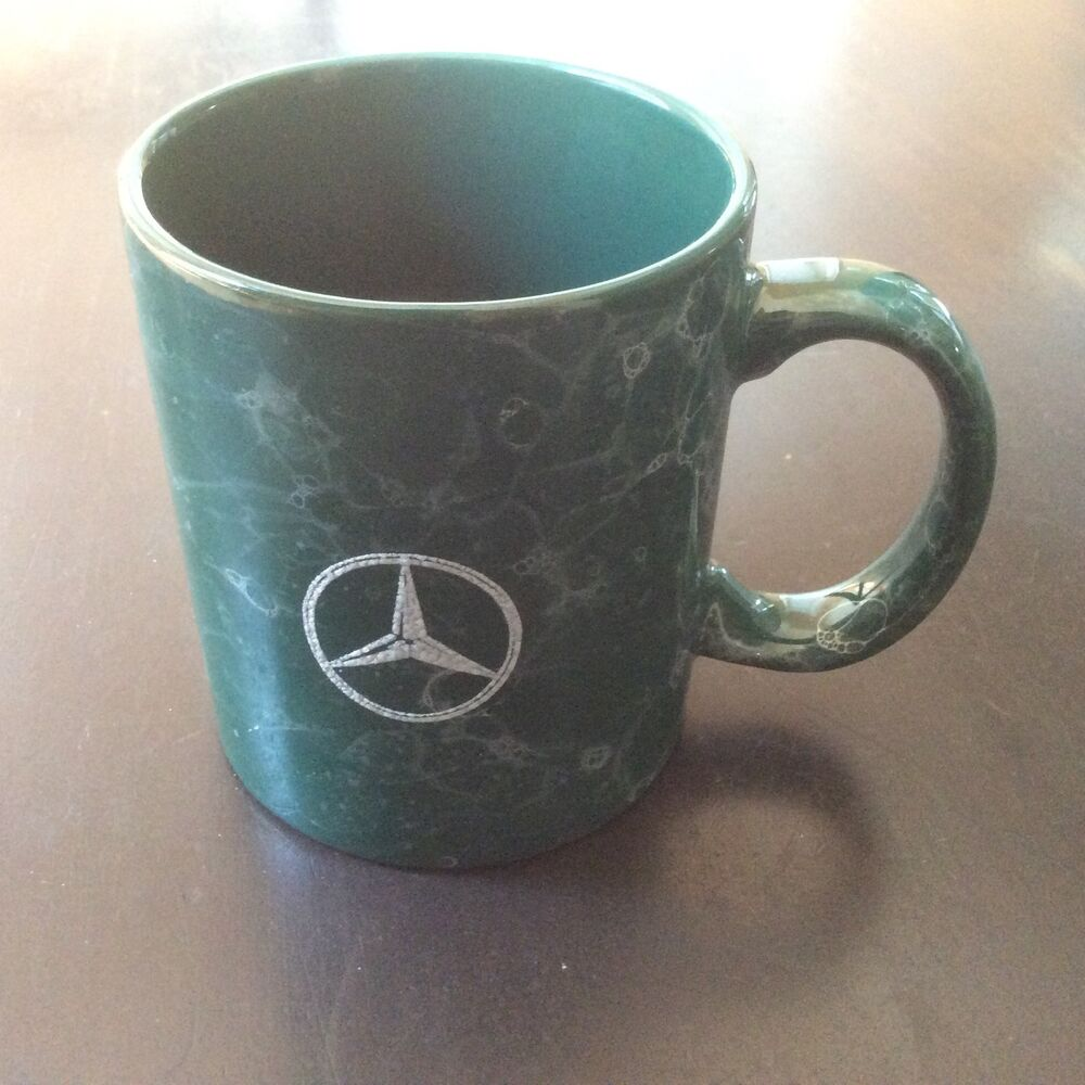 Mercedes Benz Luxury Cars Coffee Cup Mug Green Marble Look With Benz