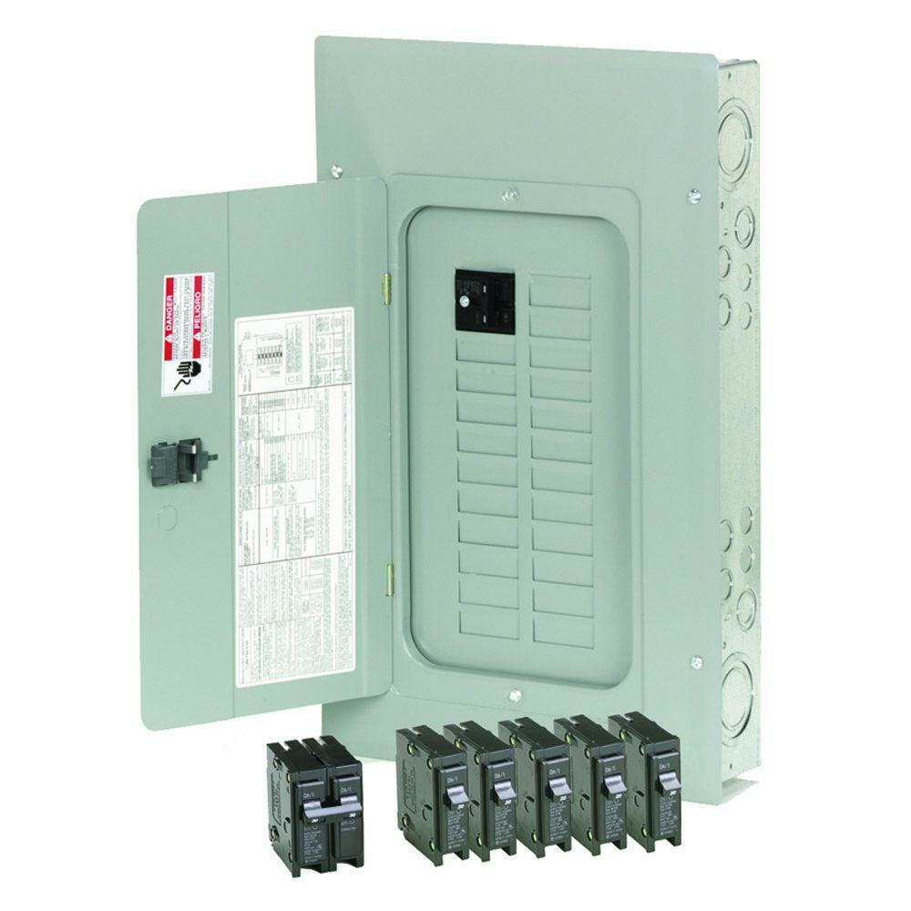 Circuit Breaker Box Cover Decorative Decorative Electrical: Eaton 100-Amp 20-Space Circuit BR Main-Breaker Box Indoor