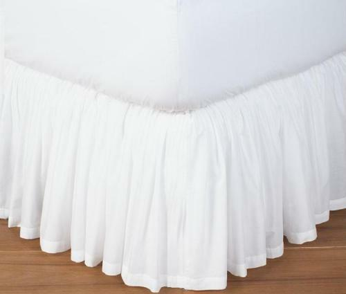 extra drop full size dust ruffle bed skirt solid 800 tc 100 egyptian cotton ebay. Black Bedroom Furniture Sets. Home Design Ideas