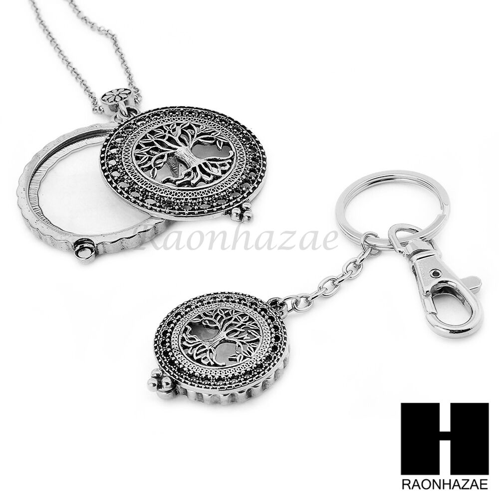 X Magnifying Glass Silver Pendant