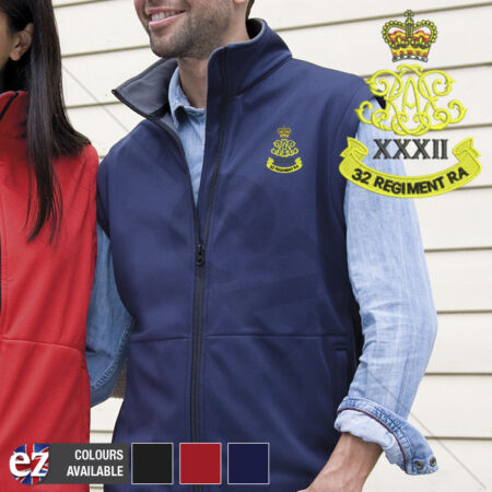 img-32nd Regiment Royal Artillery - Body Warmer with Embroidered Badge
