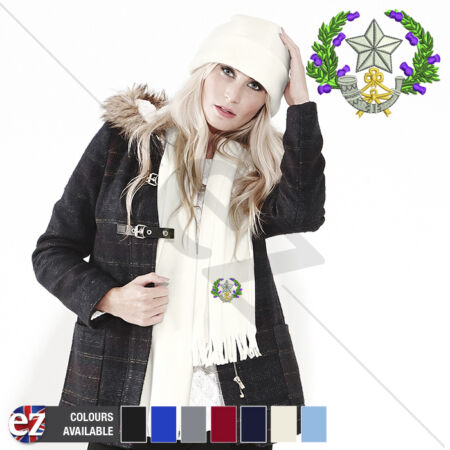 img-Cameronians Scottish Rifles - Scarf - With Embroidered Badge