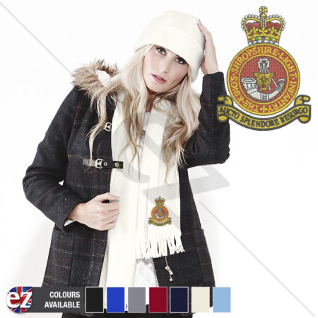 img-Kings Shropshire Light Infantry - Scarf - With Embroidered Badge