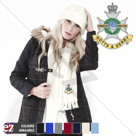 img-Sherwood Foresters - Scarf - With Embroidered Badge