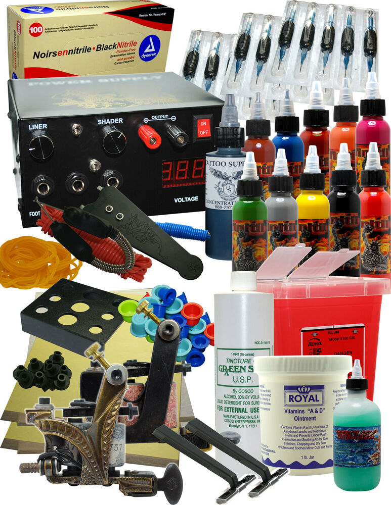 Professional tattoo kit ebay for Tattoo supplies ebay