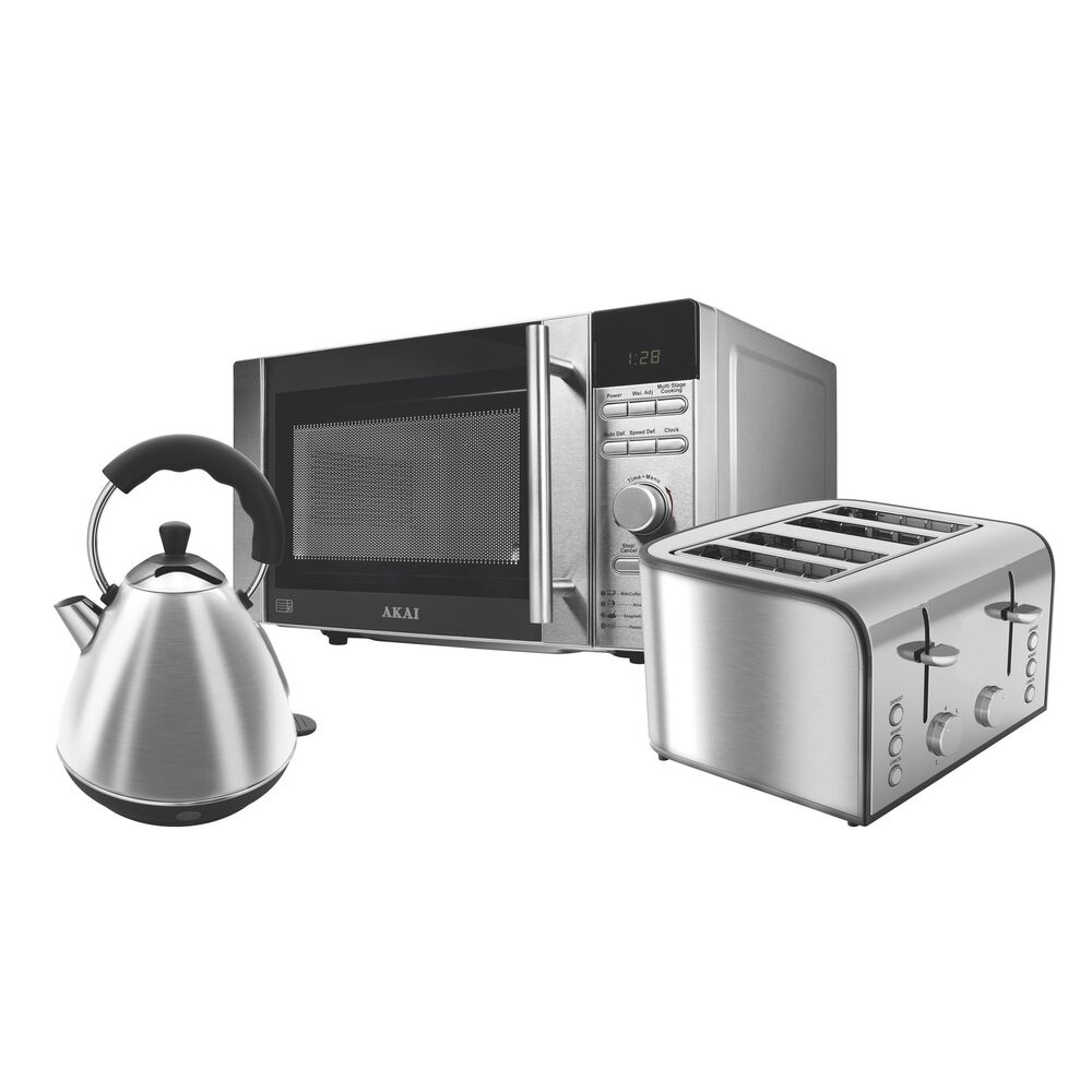 Microwave And Toaster In 1 ~ Akai stainless steel ltr microwave kettle slice
