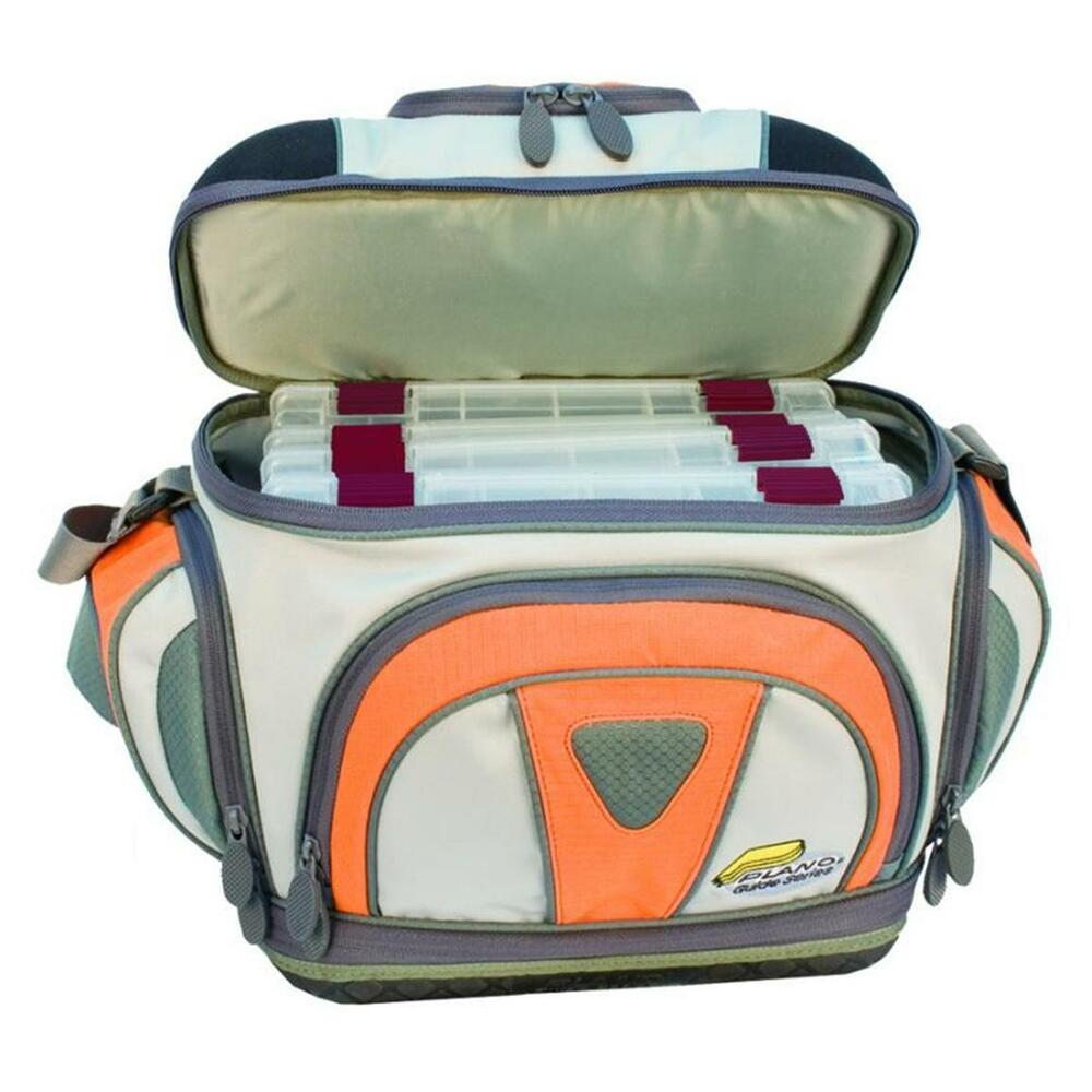 Plano 4660 guide series fishing tackle bag with 4 3600 for Fishing tackle bag