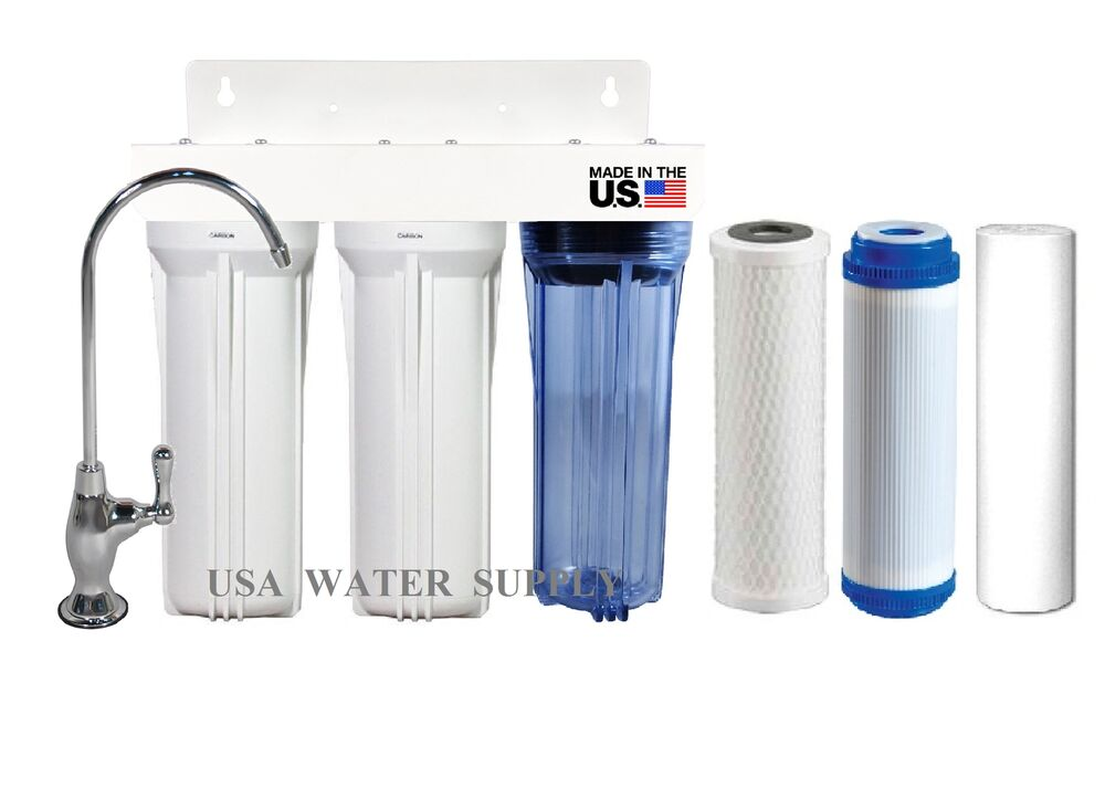 water filter for bathroom sink 3 stage sink water filter system sediment 24564
