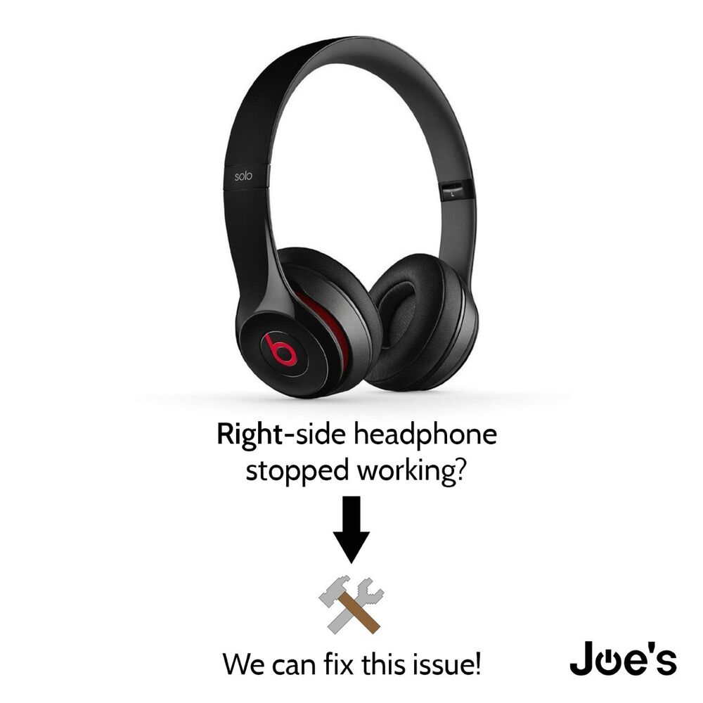 SERVICE Beats by Dre Solo 2 WIRED Headphones Repair Right ...