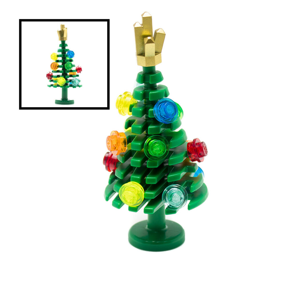 LEGO Large Festive Christmas Xmas Tree Custom Craft