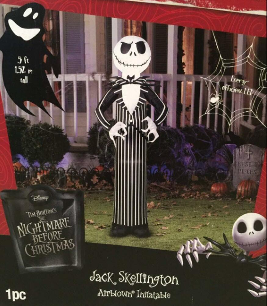 Airblown inflatable jack skellington nightmare before - Jack skellington decorations halloween ...