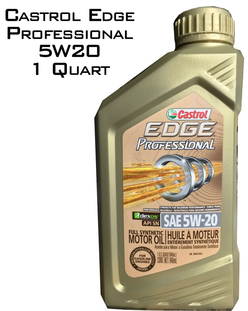 castrol edge professional full synthetic 5w 20 1 quart. Black Bedroom Furniture Sets. Home Design Ideas