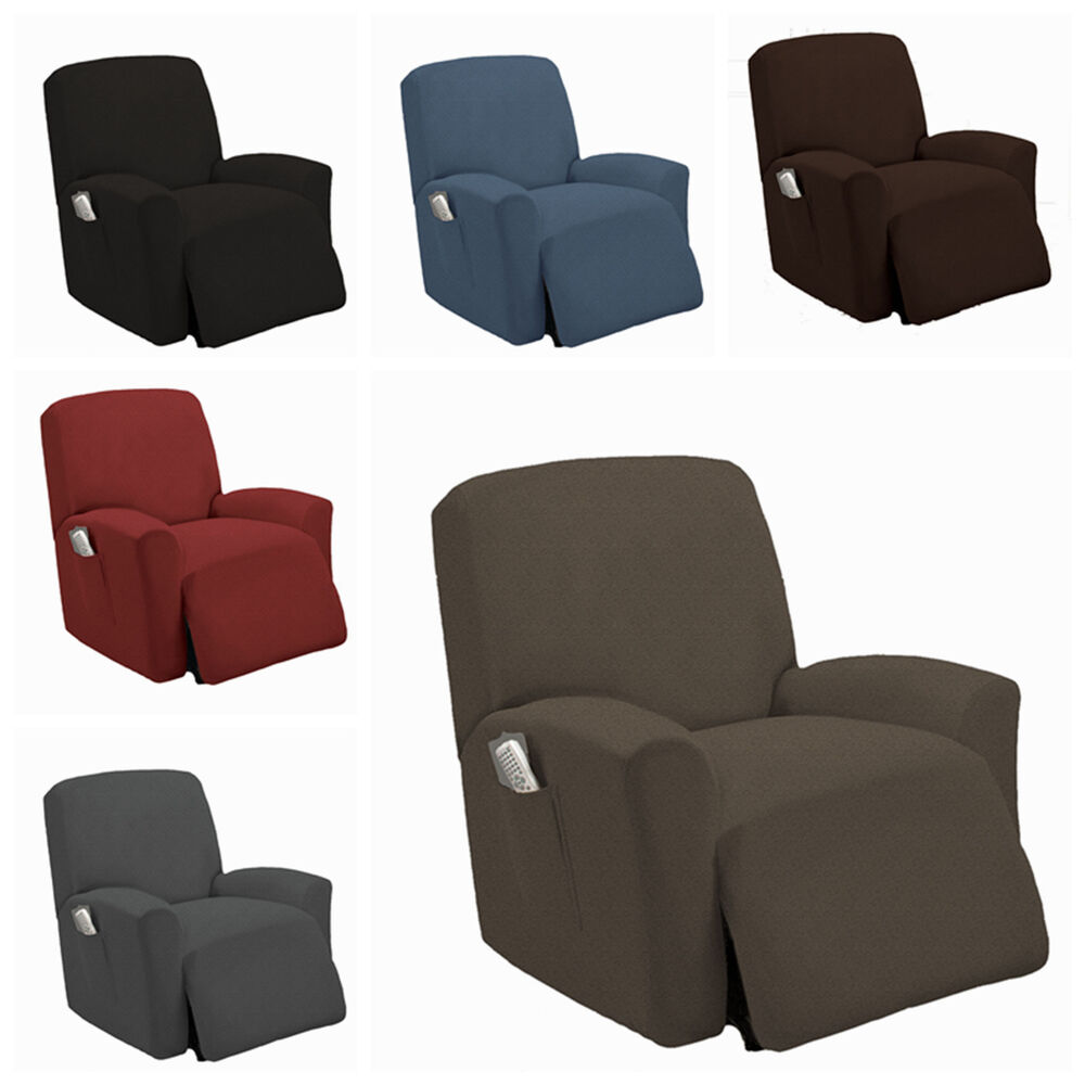 Stretch slipcover recliner couch cover sofa cover furniture chair slipcovers ebay Cover for loveseat