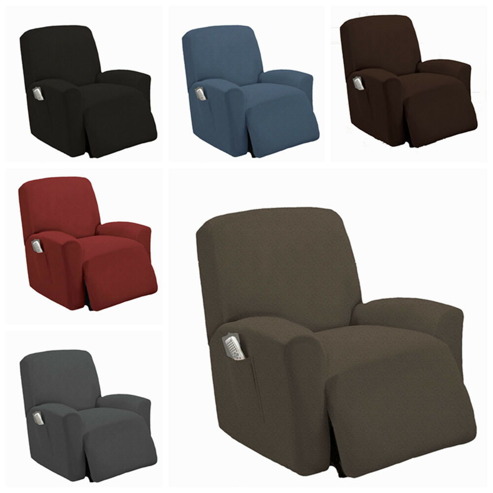Stretch slipcover recliner couch cover sofa cover furniture chair slipcovers ebay Couch and loveseat covers