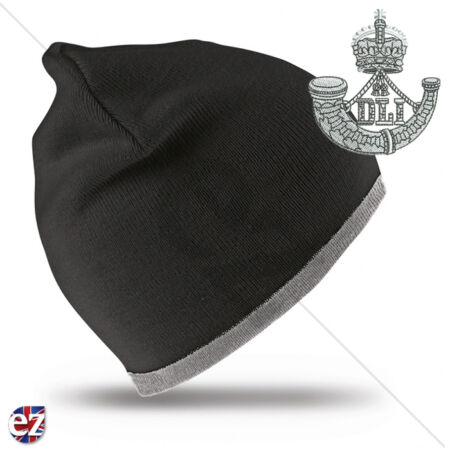 img-Durham Light Infantry - Beanie Hat with Embroidered Badge