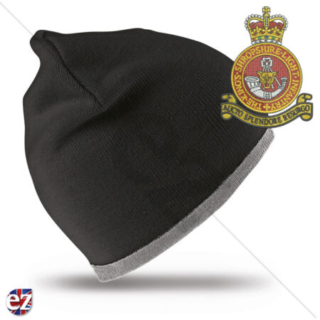img-Kings Shropshire Light Infantry - Beanie Hat with Embroidered Badge