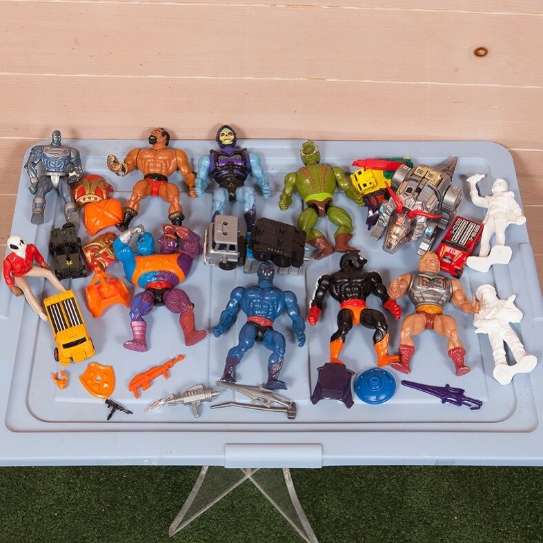 80s Toys Action Figures : Vintage s action figure toy lot he man transformers