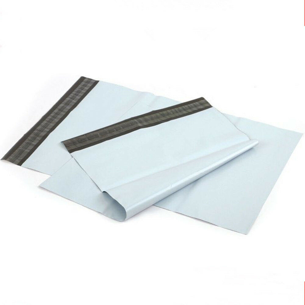 White poly post bags mailer packing courier mailing for Document pouch for shipping