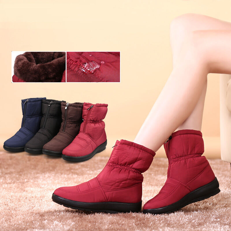 snow boots non slip winter warm waterproof mothers