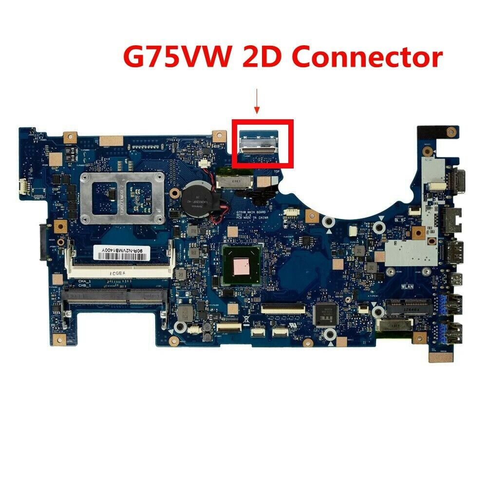 For Asus G75vw Motherboard 3d Connector 60