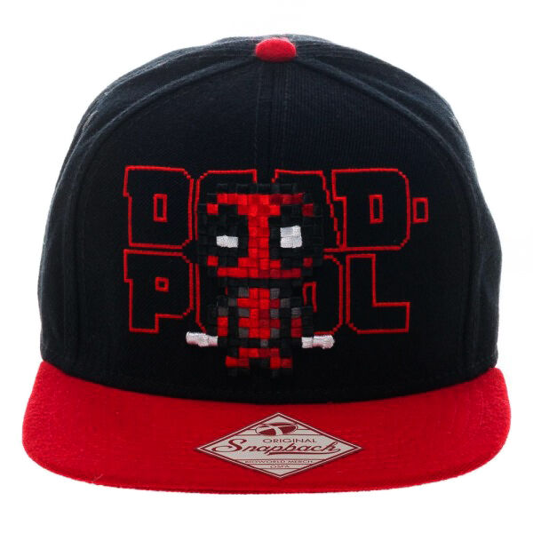 Details about Marvel Deadpool Pixel Adjustable Snapback Cap Hat New Tag  Official Bioworld 767696d5bbb2