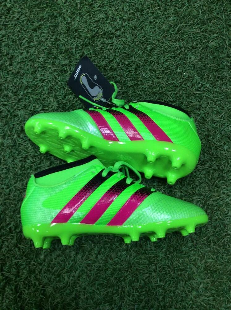 95578ae6a Details about Adidas Ace 16.3 Primemesh FG AG Junior Soccer Cleats Green  AQ2585