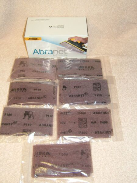 Mirka Abranet Strips 70x125mm Packs of 10 *ALL GRITS * Woodturning,  Woodworking