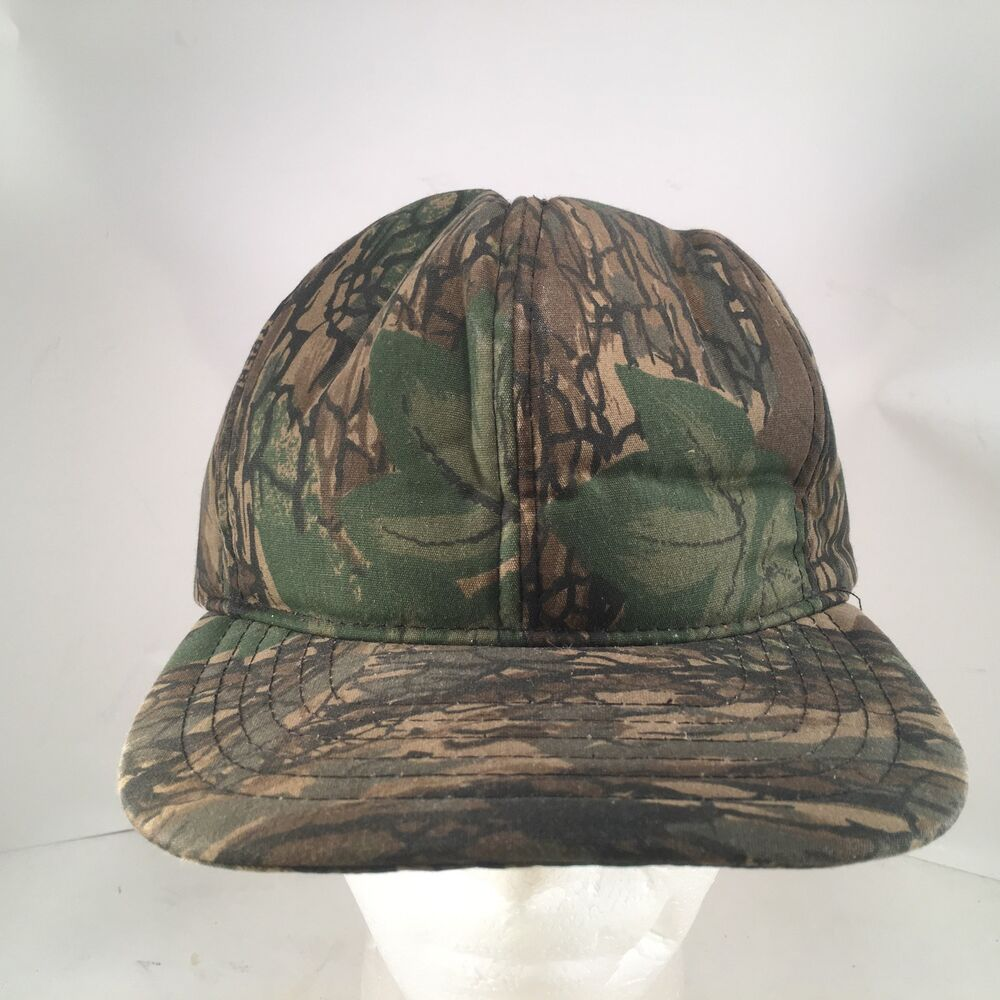 6892120403141 Details about Vintage Trebark Camouflage Foam Insulated Zipback Hunting Hat  by Duck Bay