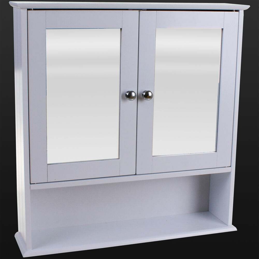 double mirrored bathroom cabinet bathroom wall cabinet white mirror door wooden 15027