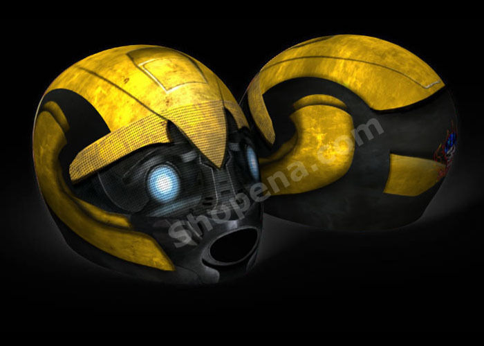 Bumblebee Motorcycle Helmet Cover AND Visor Sticker Decal Transformers Street