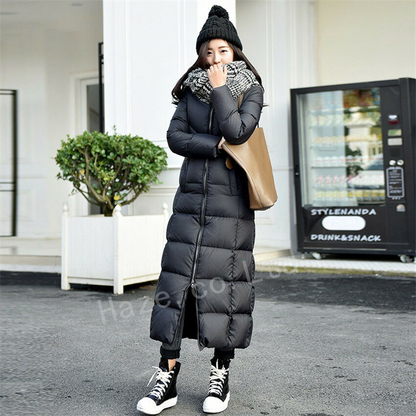 Womens Duck Down Jacket Thicken Coat Golilla Ankle Full ...
