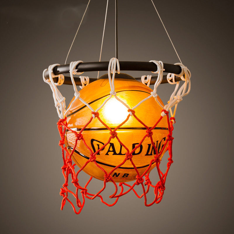 Lighting Lamp: Vintage Basketball Pendant Light Acrylic Ceiling Lamp