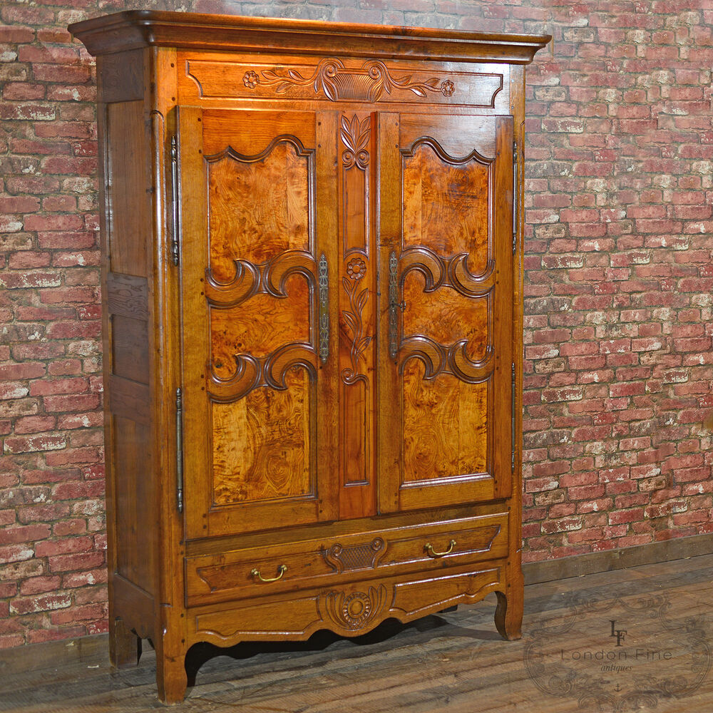 Antique French Armoire, Linen Press, Cupboard, Cabinet