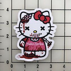 Hello Kitty Zombie 4'' Tall Color Vinyl Decal Sticker BOGO