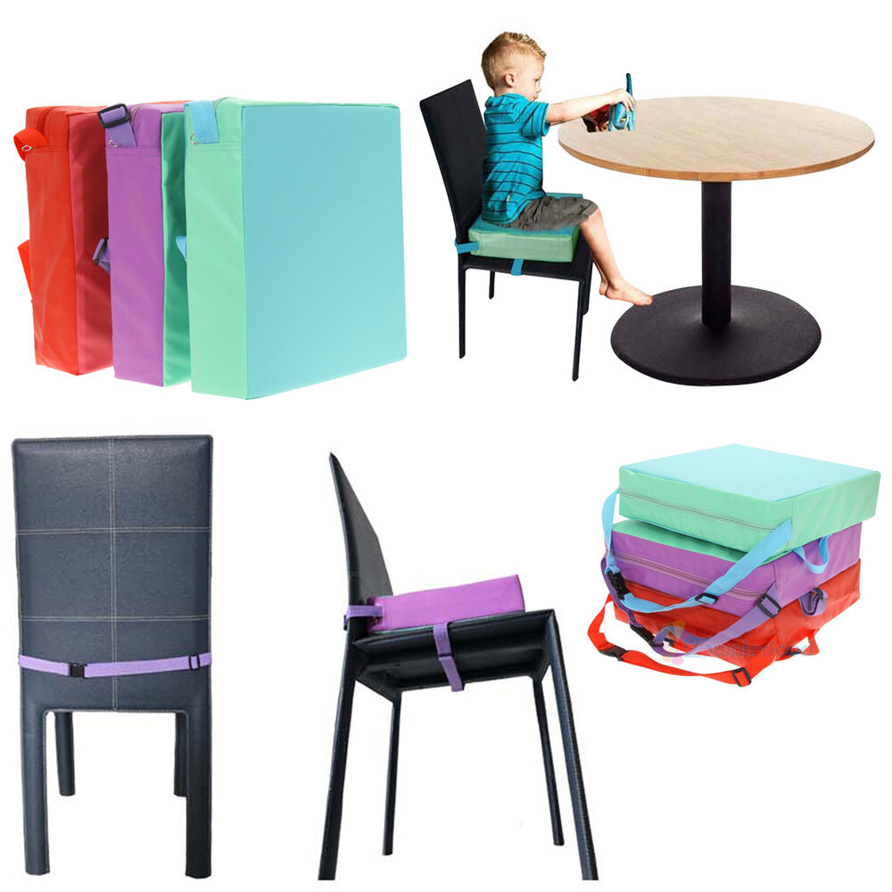 chrilren booster chair pad dining room baby kids seat soft leather cushion cover ebay. Black Bedroom Furniture Sets. Home Design Ideas