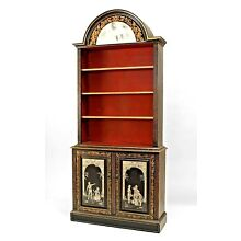 Pair of English Adam Style (19/20th Cent) Neo-Classic Bookcases
