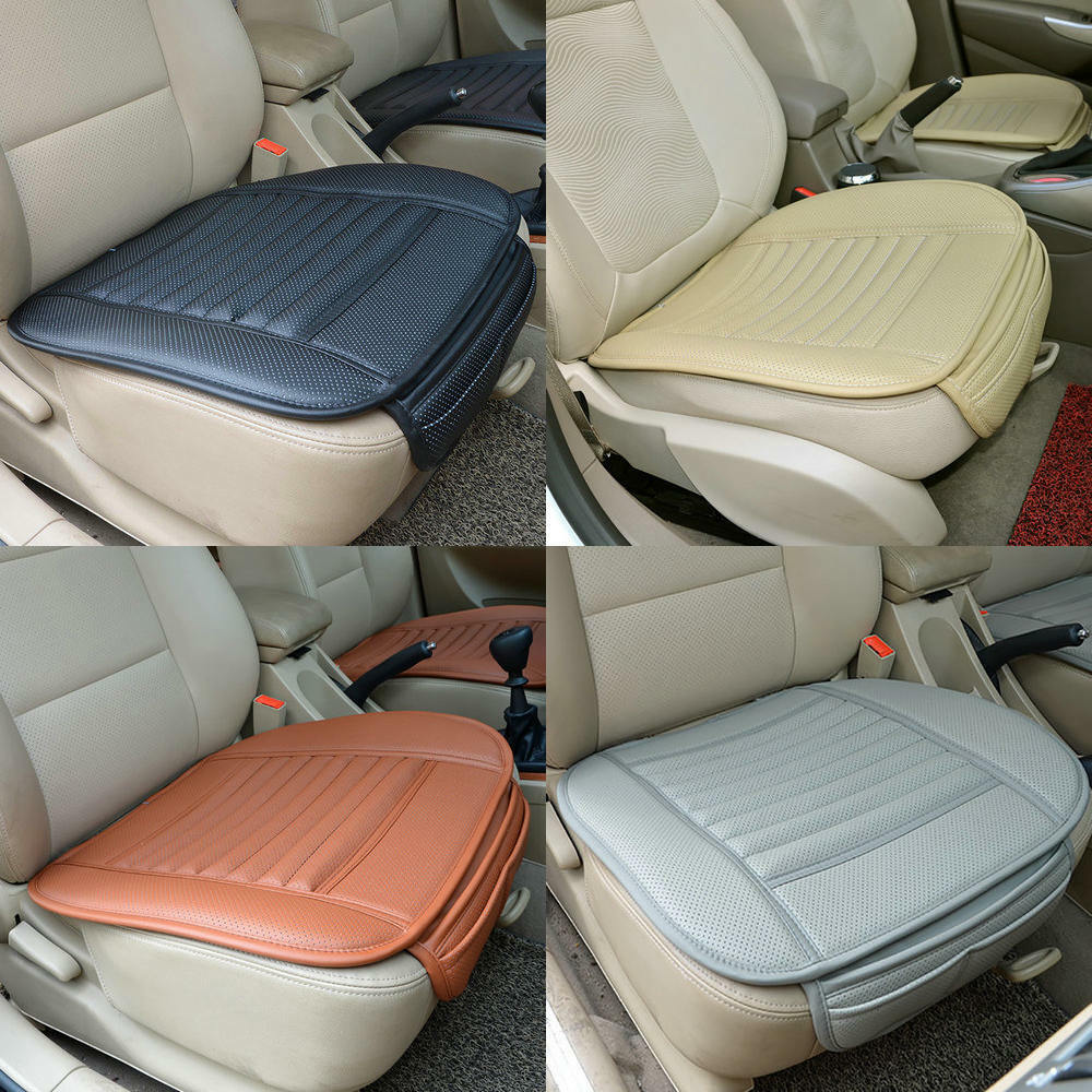 car front seats cover bamboo single bucket pu leather seat protector mat cushion ebay. Black Bedroom Furniture Sets. Home Design Ideas