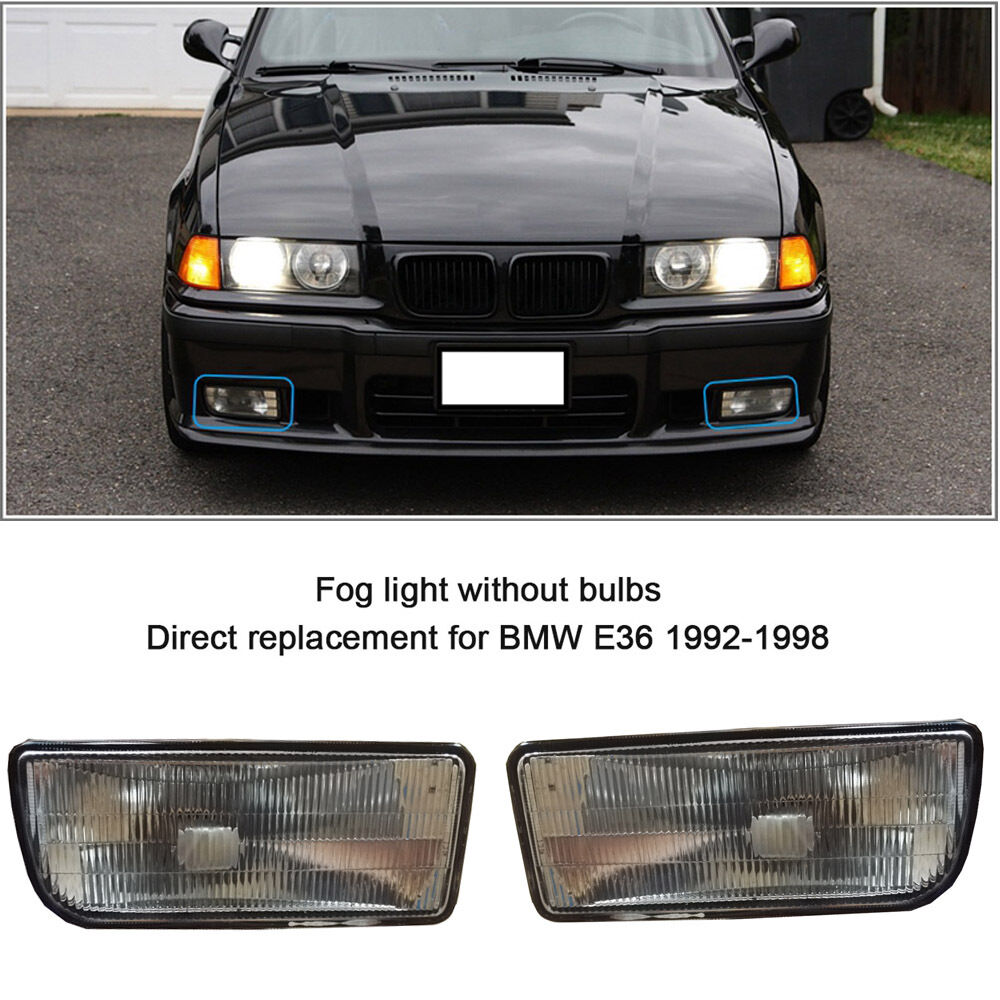 For 92-98 BMW E36 3 SERIES 2/4D REPLACEMENT FOG LIGHTS LAMPS HOUSING CASE  751570948741 | eBay
